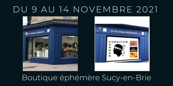 Boutique Ephémère à Sucy en Brie du 9 au 14 Novembre 2021